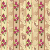 Seamless floral tulip pattern background — Stock Photo