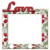Love frame with cherry and text background — Stockfoto