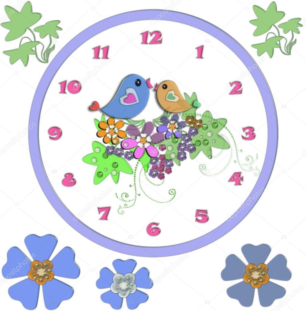 Reloj de divertidos dibujos animados para ni os fotos de - Hacer reloj de pared con fotos ...
