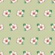 Seamless floral pattern with cute azalea flowers background — Stock Photo #73253651