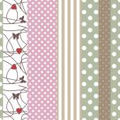 Patchwork design pattern background with decorative elements — Stock Photo