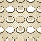 Colored circle seamless pattern with retro colors background — Stock Photo