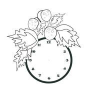 Black and white cartoon illustration of clock for coloring book — Stock Photo