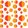 Orange and grapefruit slices seamless pattern background — Stock Photo #76530539