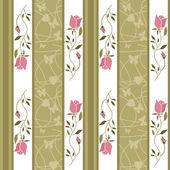 Seamless cartoon retro roses flowers pattern background — Stock Photo