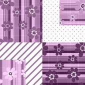Patchwork seamless floral pattern ornament background — Stock Photo