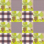 Patchwork seamless pattern ornament striped autumn background — Stock Photo