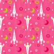 Seamless pattern of space and stars. Kid's background. — Stock Photo #79392396