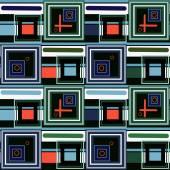 Abstrait moderne places modèle seamless texture motif rétro — Photo