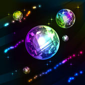 Shiny diamonds on dark background vector — Stockvektor