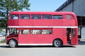 PERM, RUSSIA - JUN 11, 2013: Old double-decker bus with indoor c — Stock Photo