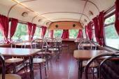 PERM, RUSSIA - JUN 11, 2013: Interior of double-decker bus cafe  — Foto de Stock