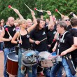 Постер, плакат: PERM RUSSIA JUN 15 2014: Group of drummers 44 Drums perform