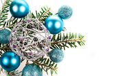 Decoración de navidad sobre fondo blanco — Foto de Stock