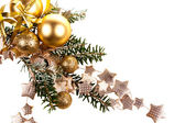 Vánoční dekorace na bílém pozadí — 图库照片