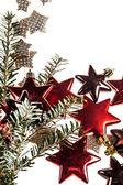 Beyaz arka plan christmas dekorasyon — Stok fotoğraf