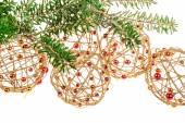 Christmas decoration on white background — Stock Photo