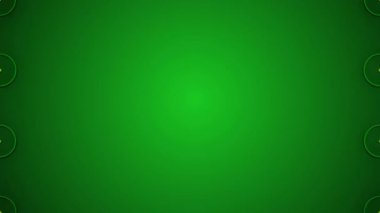 Green abstract loop motion background, pulsating circles and yellow star — Stock Video