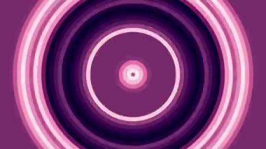 Pulsating red and pink circles, abstract loop motion background — Stock Video