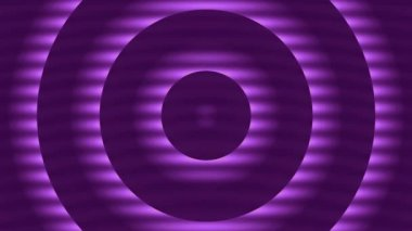 Abstract loop motion background, pulsating purple circles — Stock Video