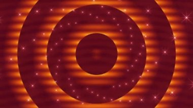 Abstract loop motion background, pulsating orange circles — Stock Video