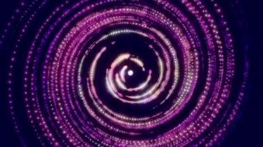 абстрактный фон движения петли, повернуть свет — Стоковое видео