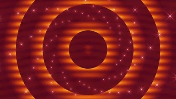 Laço abstrato movimento fundo, pulsando círculos laranja — Vidéo