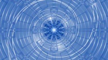 синий абстрактный цикла движения фона, света — Стоковое видео