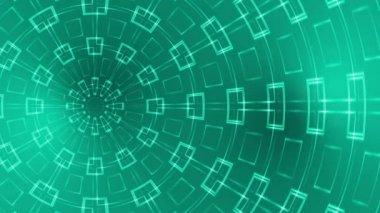 Soyut loop hareketli arka plan, kaleidoscope yeşil ışık — Stok video