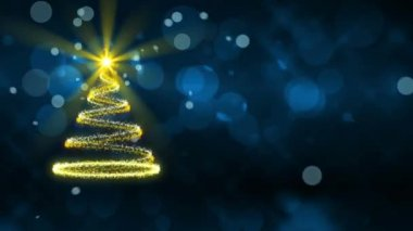Christmas tree, abstract loop motion background — Stock video