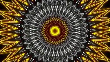 Kaleidoscop, abstract loop motion background, circle — Stockvideo