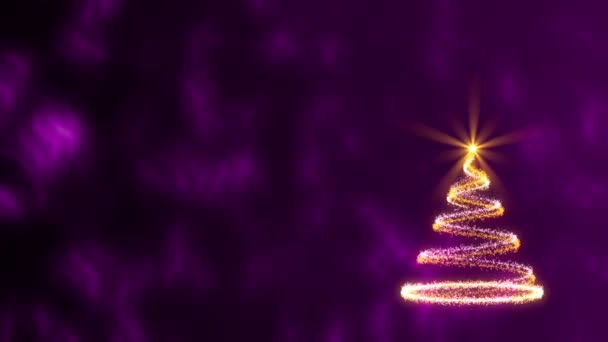 Christmas, happy new year, abstract background, loop — Vidéo