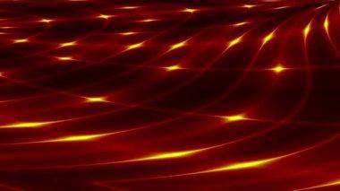 Röd abstrakt loop motion bakgrunden, gult ljus — Stockvideo