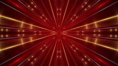 Red  abstract background, kaleidoscope light, loop — Stockvideo