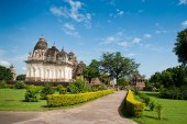 Famous temples of Khajuraho — Stock Photo