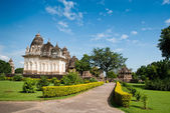 Famous temples of Khajuraho — Stock Photo