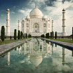 Taj Mahal in sunrise light. — Stock Photo #57774403