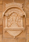 Decorative detail  of Jaisalmer Fort in Jaisalmer, Rajasthan, India — Stock Photo