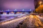 Novovolzhsky bridge — Stock Photo