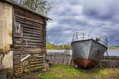 Boat out of work — Stock Photo