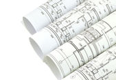 Project drawings isolation — Stockfoto
