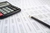 Calculadora con números — Foto de Stock