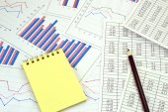 Graficas financieras — Foto de Stock