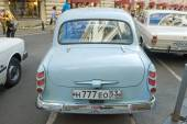 Car Moskvich-403IE on retro rally Gorkyclassic,  GUM, Moscow, rear view — Stock Photo