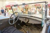 Soviet retro car GAZ-A (licensed copy Ford-A) for retro rally Gorkyclassic about Gum, Moscow, cabin — Stock Photo