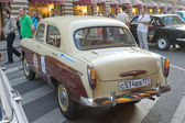 Soviet old car Moskvich-407 on retro rally Gorkyclassic for about Gum, Moscow, rear view — Stockfoto