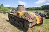 3-й международный форум «войны моторов», японский старый танк 2 мировой войны, «ха го», вид сзади — Стоковое фото