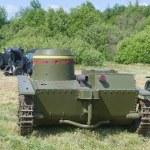 Постер, плакат: The 3rd international forum Motors war soviet light amphibious tank T 38 rear view