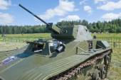 "El tercer Foro Internacional ""guerra de motores"", soviético retro tanque ligero t-60, frente vista — Foto de Stock"