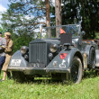 Постер, плакат: German car Horch 901 at the 3rd international forum of Engines of war near the city Chernogolovka front view